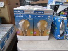 10x Megaman Mellotone LED Filament lamp, new and boxed. 15,000Hrs / E27 / 210 Lumens