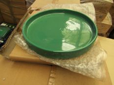1 x box of 12 Large Ceramic 25cm Trays for various uses. new & boxed