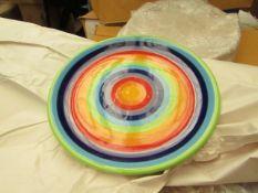 8 x Large Rainbow 26cms Dinner Plates new see image