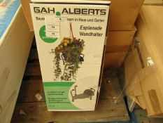 3 x Gah Alberts Flower Pot/Basket Wall or Freestanding Fixtures new & packaged