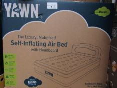 | 6X | YAWN AIR BED WITH HEADBOARD DOUBLE | UNCHECKED AND BOXED | NO ONLINE RESALE | SKU - | RRP £