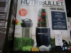 | 4X | NUTRI BULLET 1000 SERIES | UNCHECKED AND BOXED | NO ONLINE RESALE | SKU C5060191464734 |