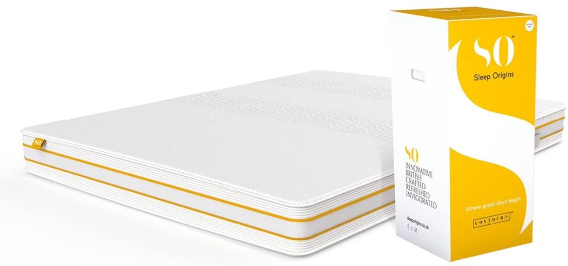   1X   SLEEP ORIGINS KING SIZE 18CM DEEP MATTRESS   NEW AND BOXED  NO ONLINE RESALE  RRP £599  