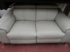 Costco Italian cream coloured electric reclining two seater sofa, untested. RRP £2000.00