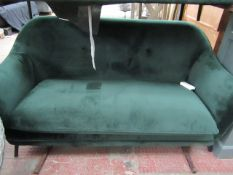 | 1X | COX AND COX 2 SEATER GREEN FABRIC SOFA | NO MAJOR DAMAGE | RRP £400 |