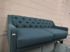 | 1X | SWOON 3 SEATER FABRIC SOFA | NO MAJOR DAMAGE BUT MISSING FEET | RRP CIRCA £600.00 |