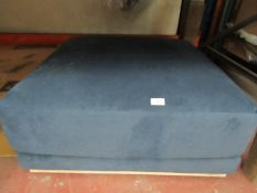 1X | SWOON BLUE FOOTSTOOL | APPEARS TO HAVE NO MAJOR DAMAGE AND MAY CONTAIN A FEW MARKS | RRP - |