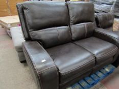 Costco 2 seater leather recliner, untested.