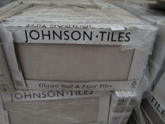 10x Packs of 5 Natural Ecru Matt Finish 300x600 wall and Floor Tiles By Johnsons, New, the RRP per