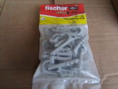 5x Fischer - Single Cable Clamp ES 18 - (Packs of 25) - New & Packaged.