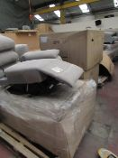 | 6X | PALLETS OF VARIOUS SOFA PARTS, UNSURE IF ANYONE CAN MAKE ANYTHING OUT OF THEM |