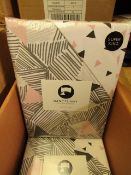 6 x Sanctuary Bailey Multi Superking Duvet Set. New & Packaged. see image for design