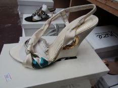 Zaif by Shalamar Shoes Ladies Ivory Shoes size 4 new & boxed see image for design