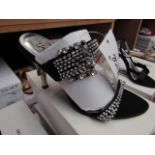 Unze by Shalamar Shoes Ladies Black & Diamante Shoes size 4 new & boxed see image for design