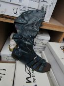Zaif by Shalamar Shoes Ladies Blue Leather Calf Shoes size 6 new & boxed see image for design