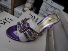 Unze by Shalamar Shoes Ladies Lilia & Embellished Shoes size 5 new & boxed see image for design