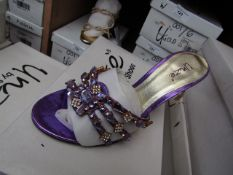 Unze by Shalamar Shoes Ladies Lilia & Embellished Shoes size 8 new & boxed see image for design