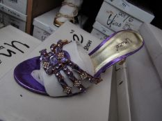 Unze by Shalamar Shoes Ladies Lilia & Embellished Shoes size 3 new & boxed see image for design