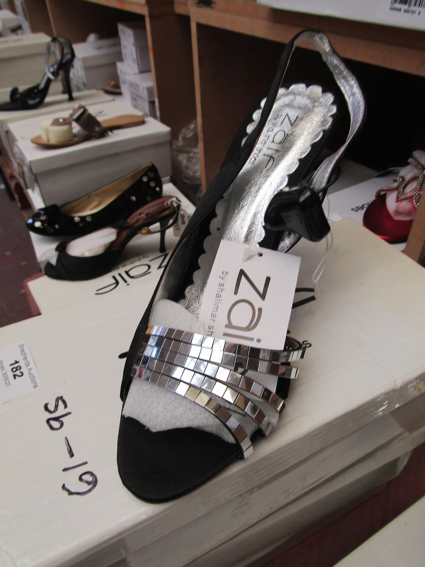 Zaif by Shalamar Shoes Ladies Black & Embellished Shoes size 6 new & boxed see image for design