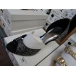 Unze by Shalamar Shoes Ladies Black & Diamante Shoes size 7 new & boxed see image for design