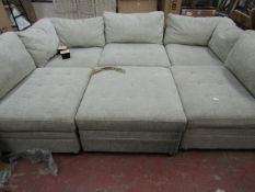 M Star 6 piece sectional sofa, no major damage but is missing a couple of feet
