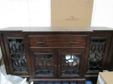 Bayside Tv console unit, unused buit has scratches on it.