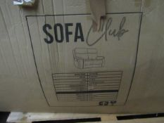 | 1X | SOFA CLUB RICHMOND 2 SEATER CHARCOAL FABRIC RECLINING SOFA | LOOKS UNUSED BUT IS BOXED AND