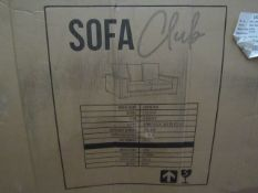 | 1X | SOFA CLUB CORINTHEA 2 SEATER BLACK VELVET SOFA | LOOKS UNUSED BUT IS BOXED AND UNCHECKED |
