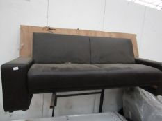 2 Seater Fold down back sofa bed, mechanism is working correctly.