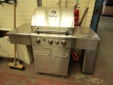 Duro NXR 3 Burner 304 Stainless Steel Gas BBQ with Side Grill - Untested - Used Condition, Needs a