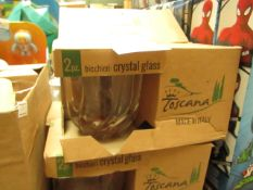 4x Toscana Bicchieri Crystal Glasses - Boxed.