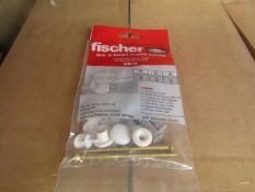 5x Fischer - W.C. & Biget Floor Fixing (Pack of 2) - New & Packaged.