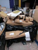 1x Pallet of approx 40 Various Sized and stlyed Xmas trees, all unchecked and boxed