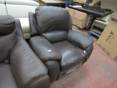 Costco leather power recliner arm chair, untested.