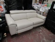 Nicoletti 2 seater sofa recliner, untested and has small scratches on the back and may have a few