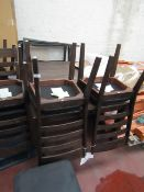 Bayside 6x dining chairs with an extendable table, no major damage.
