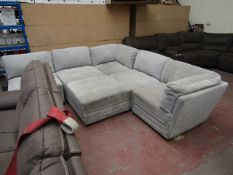 Mstar 6 piece sectional modular sofa, may have a few marks and scuffs as it is in used condition and