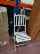 | 3X | COX AND COX RAVELLO FOLDING BISTRO CHAIRS | DOESN'T APPEAR TO BE ANY MAJOR DAMAGE | RRP £- |