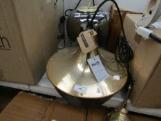 | 1x | PACIFIC LIGHTING CEILING PENDANT LIGHT | HAS A FEW SCRATCHES ON THE METAL AND NO BOX | RRP £