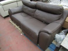 Costco 2 seater leather recliner sofa, untested.