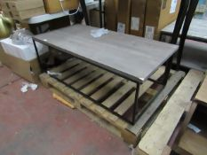 | 1x | DESIGNER LOW RISE COFFEE TABLE | NO MAJOR DAMAGE | RRP - |