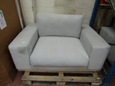 | 1X | SWOON GREY ARM CHAIR | APPEARS TO HAVE NO MAJOR DAMAGE AND MAY CONTAIN A FEW MARKS | RRP - |