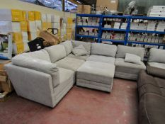 Mstar 6 piece sectional modular sofa, may have a few marks and scuffs as it is in used condition.