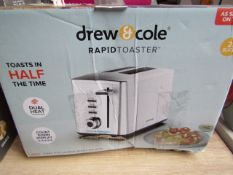 | 1X | DREW & COLE 2 SLICE TOASTER | UNCHECKED AND BOXED | NO ONLINE RE-SALE | SKU - | RRP £59.