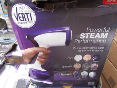 | 5X | VERTI STEAM IRONING SYSTEM | ALL CUSTOMER RETURNS | UNCHECKED AND BOXED | NO ONLINE
