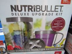 | 2X | NUTRIBULLET DELUXE UPGRADE KIT | UNCHECKED AND BOXED | NO ONLINE RESALE | SKU - | RRP £24.