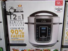 | 5X | PRESSURE KING PRO 12 IN 1 5LTR PRESSURE COOKER | UNCHECKED AND BOXED SOME MAY BE IN NON