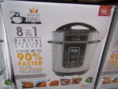 | 6X | PRESSURE KING PRO 8 IN 1 3LTR PRESSURE COOKER | UNCHECKED AND BOXED | NO ONLINE RESALE |