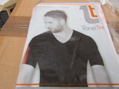 | 48x | TONE TEE V NECK COMPRESSION BLACK T-SHIRT XL | PACKAGED & BOXED | SKU 1508038582739 | RRP £