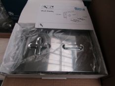 Roca PL6 dual chrome flush plate, new and boxed.